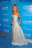 Kelly Ripa wore a strapless gown in NYC.