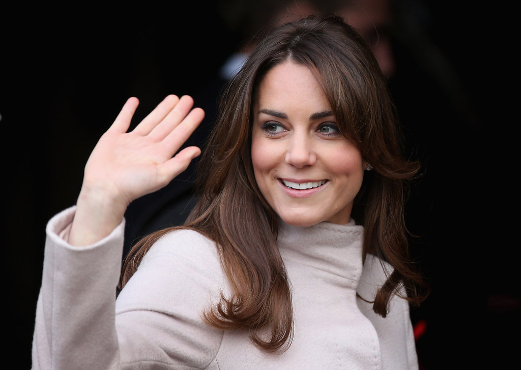 Kate Middleton waved to the crowds in Cambridge during her official visit.