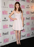 Anna Kendrick donned a petal-pink Halston Heritage number at the Independent Spirit Awards nominations — and made us want the same perfectly fit party confection.