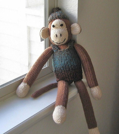 Very Carey Stuffed Monkey