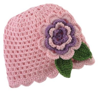 Mud Pie Baby Crochet Flower Hat