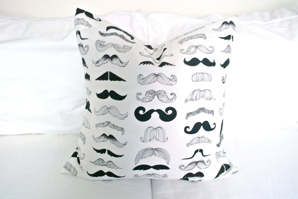 Graphic Mustache Pillow