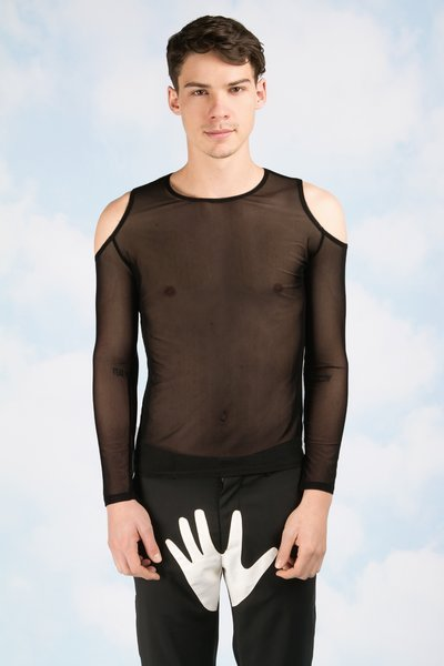 This mesh shirt, which costs $145, is perfect for the guy who loves cutouts.