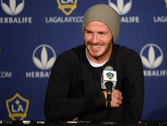 David Beckham spoke to the media during a press conference.