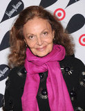 Diane von Furstenberg posed on the red carpet.