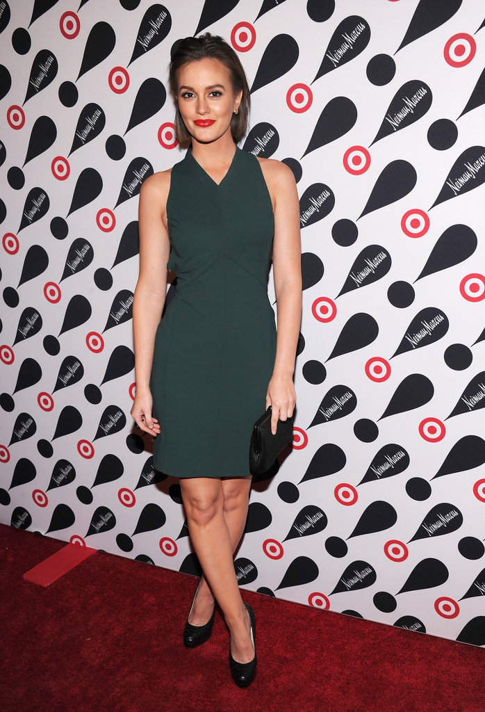 Leighton Meester showed off her short hair on the red carpet.