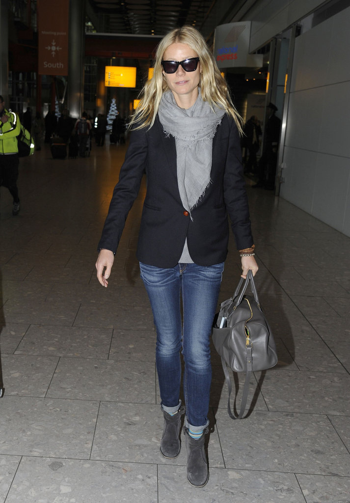 Gwyneth Paltrow wore sunglasses in London.