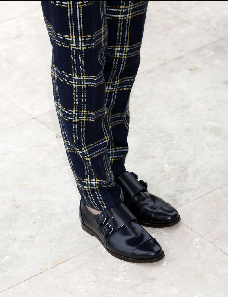 Kristen Stewart wore paid pants and black brogues to the event.