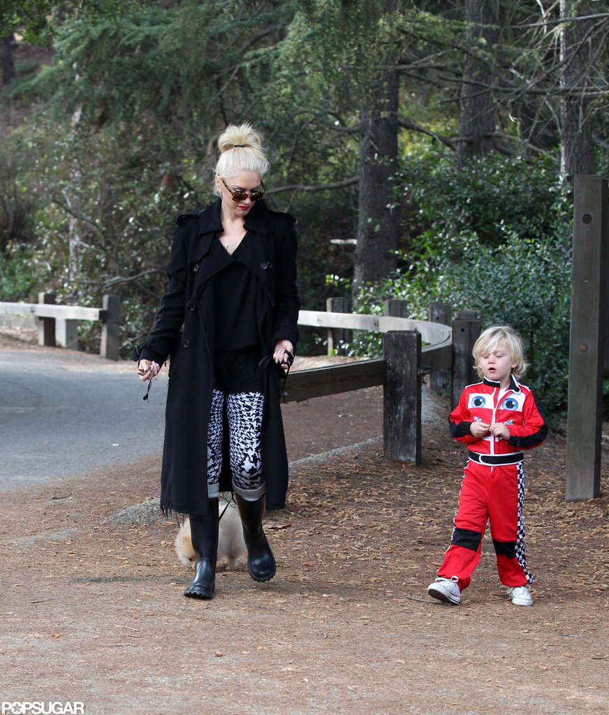 Gwen Stefani and Zuma spent an afternoon walking the dog together.