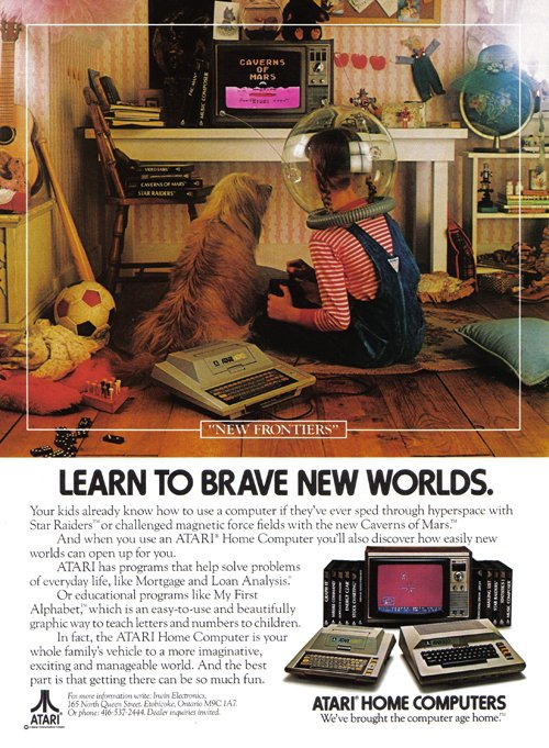 In the early, early days of gaming, girls made it into nonsexist ads, like this one from Atari.