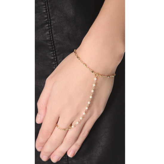 Finger bracelet, approx $121, Jacquie Ache at Shopbop