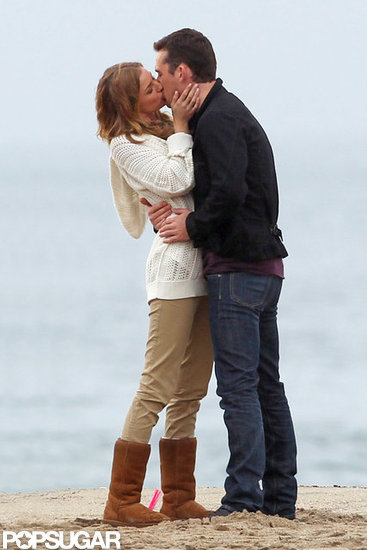 Emily VanCamp Kisses Her Revenge Costar on Set