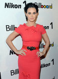 Katy Perry struck a pose at Billboard's Women in Music event in NYC.