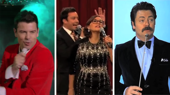 Video: NKOTB's Sexy Santa, Jimmy's Holiday Mashup, More Viral Hits!