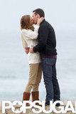 Emily VanCamp kissed costar Barry Sloane on the beach while filming for Revenge.