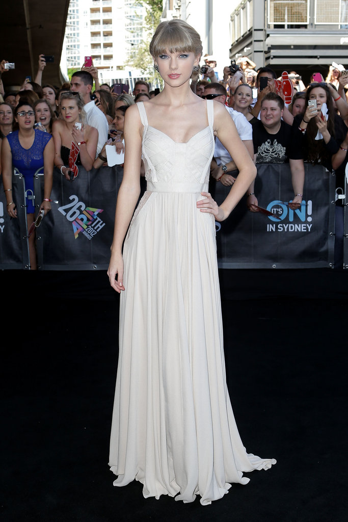 Taylor Swift commanded attention in this sweet — and still pretty sexy — Elie Saab gown at the ARIA Awards in Sydney.