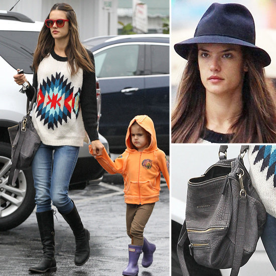Alessandra Ambrosio beat the rain in style. See how it's done.