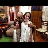Soleil Moon Frye's little girls, Jagger and Poet, met the Dalai Lama during a trip abroad. Source: Instagram user moonfrye
