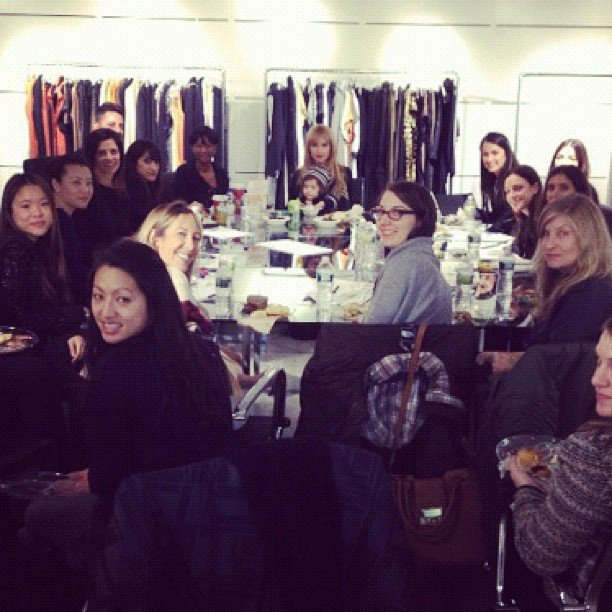 Skyler Berman ran a meeting in his mama's office. Source: Instagram user rachelzoe