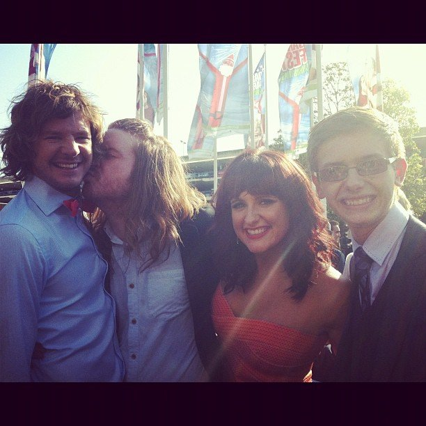 The bromance lives on! Big Brother contestants Josh, Michael, Stacey and Bradley stayed close together on the red carpet at the ARIAs.