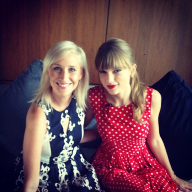 "Maude Garrett had a ""fantastic chat"" with Taylor Swift in Sydney. Source: Instagram user maudegarrett"