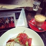 It was a working breakfast for Ali on the morning of the ARIAs.