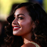 Jessica Mauboy's dark red lips