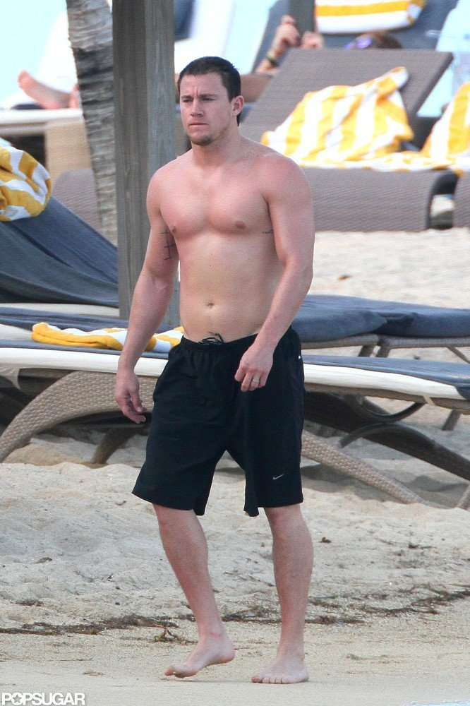 Channing Tatum relaxed on vacation.