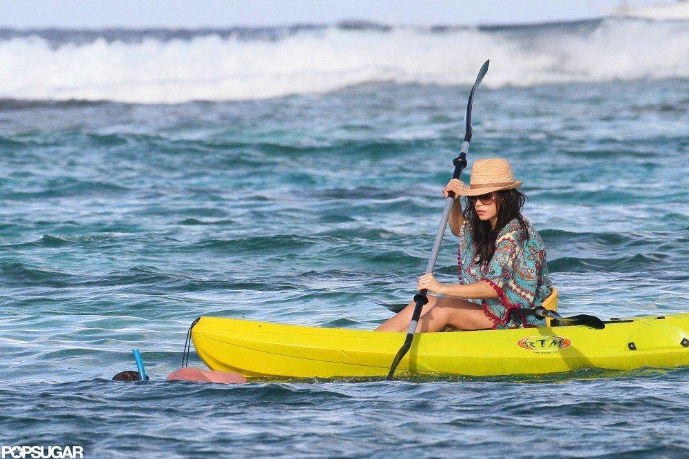 Jenna Dewan kayaked.
