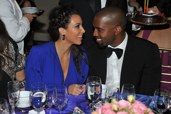 Kim Kardashian and Kanye West only had eyes for each other at the 2012 Angel Ball in NYC.