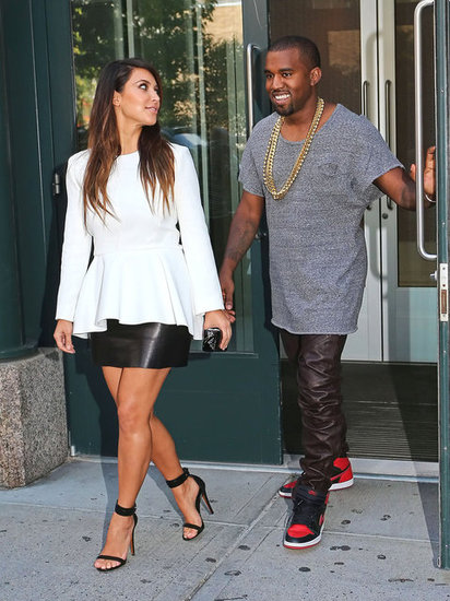 Kanye West and Kim Kardashian went to a movie in NYC in September 2012.