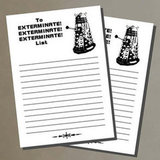 Exterminate To-Do List