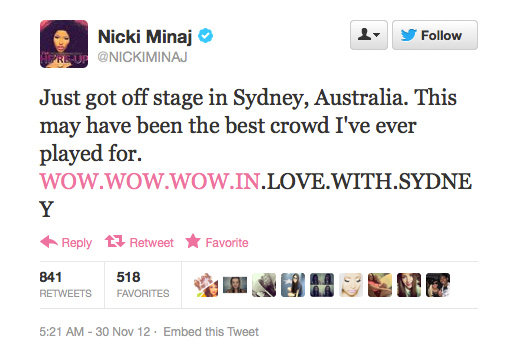 It seems to us like Sydney is in love with you too, Nicki!
