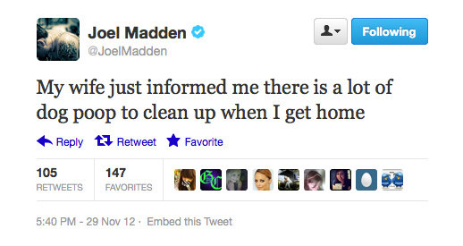 Maybe Joel Madden should've stayed in Australia for a bit longer . . .