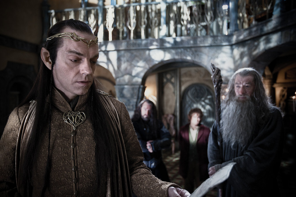 Hugo Weaving and Ian McKellan in The Hobbit: An Unexpected Journey.