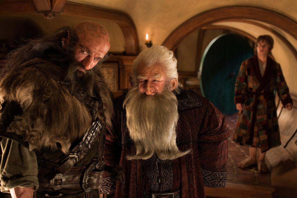 Graham McTavish, Ken Stott, and Martin Freeman in The Hobbit: An Unexpected Journey.