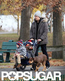 Tom Brady Takes His Boys to the Park Following Baby Vivian's Birth