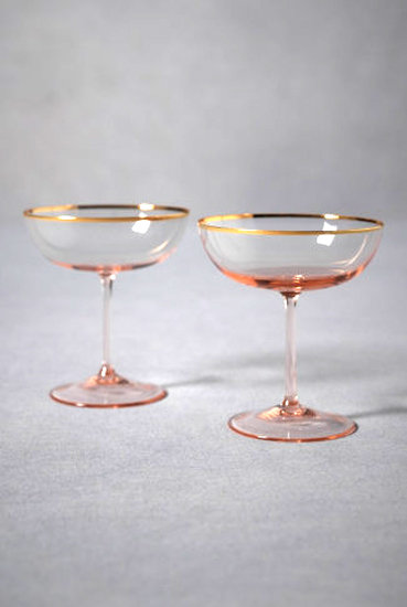 Gilded Champagne Coupes