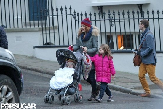 Isla Fisher, Olive, and Elula were out in London.