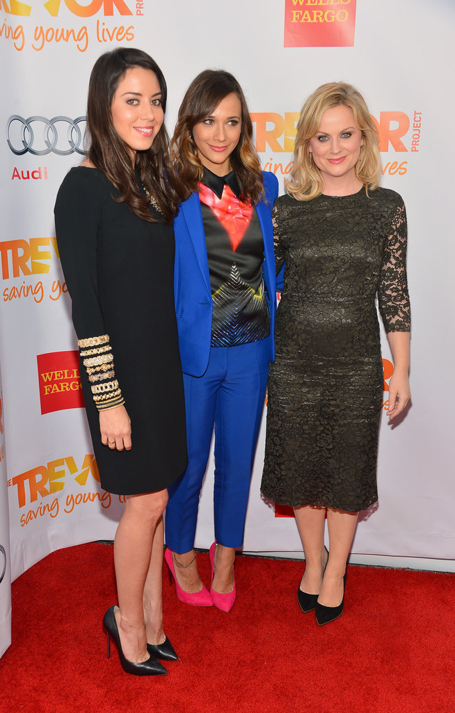 Aubrey Plaza, Rashida Jones and Amy Poehler smiled in LA.
