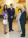 Kate Middleton and Prince William kicked off their East Asia tour in September at a dinner with Singapore President Tony Tan and his wife, Mary Tan.