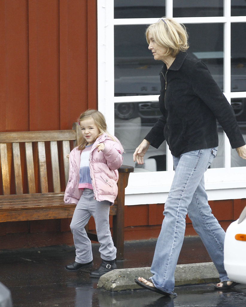 Seraphina Affleck walked with her grandma Chris Affleck.