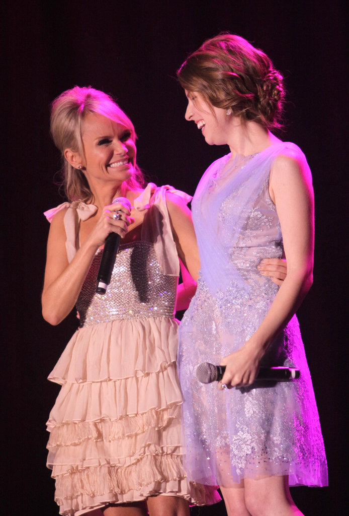 Kristin Chenoweth and Anna Kendrick were in stage in LA.