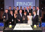 The cast and crew of Fringe smiled for photos at the Fringe100 episodes and final season party in Vancouver.