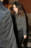 Mila Kunis wore wavy curls to the event.