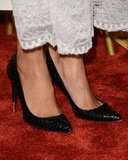 Tom Ford python pumps were her shoes of choice.