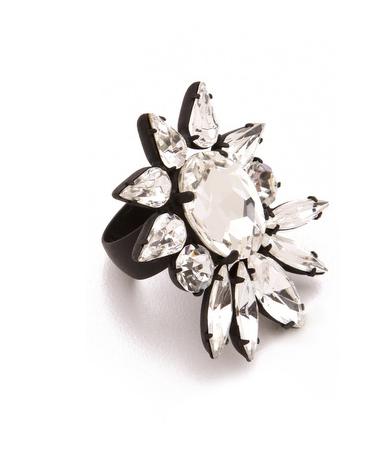This Noir Nightfall Cocktail Ring ($77) was made for your most festive of gatherings.