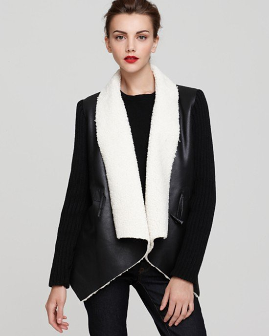 We love a slouchy shearling coat, and Sam Edelman's Sherpa Wrap Coat ($154, originally $220) is a standout style.