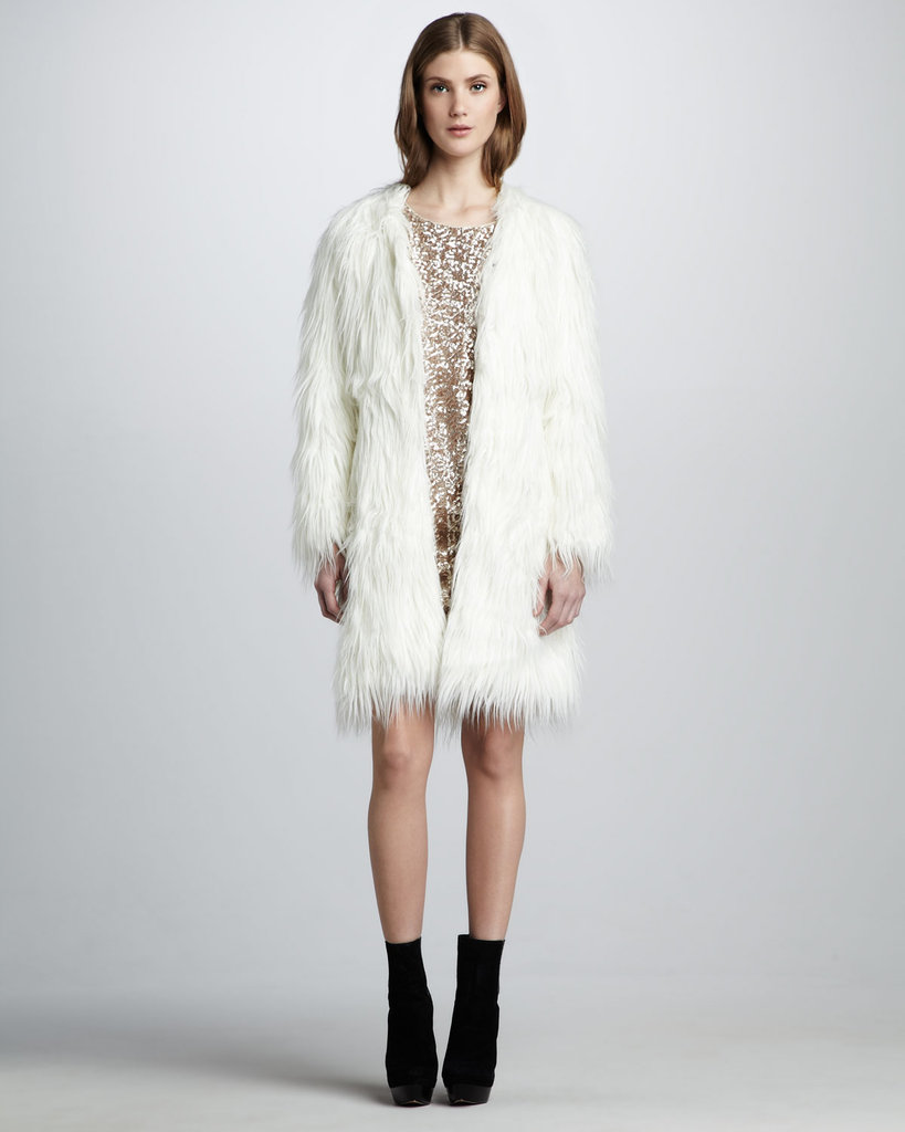 Nobody knows fur like Rachel Zoe, and the designer's Petra Faux Fur Coat ($255, originally $425) would make a pretty rad addition to your holiday party ensembles.