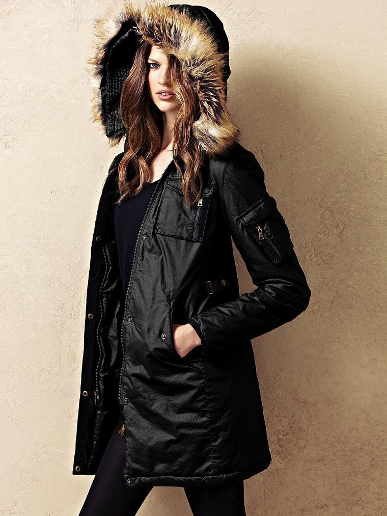 Say hello to the perfect parka — Victoria's Secret's Cotton Parka ($100, originally $148) even has a removable faux-fur hood.